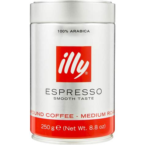 espresso ground coffee illy ground coffee espresso 250g woolworths