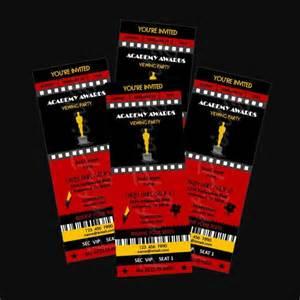 academy awards invitation template printable quot ticket quot invitations academy awards oscars