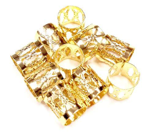 gold dreadlock dreadlocks dread lock metal cuffs hair decoration
