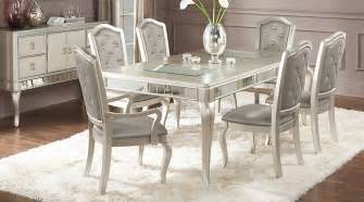 Glass Dining Room Furniture Sets by Sofia Vergara Paris Silver 5 Pc Dining Room Dining Room