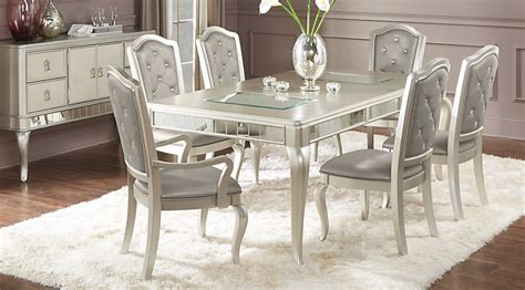 Rooms To Go Dining Furniture Sofia Vergara Silver 5 Pc Dining Room Dining Room Sets Colors