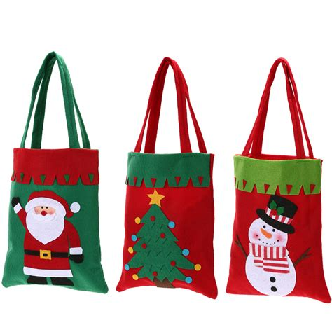pattern for christmas tree bag creative christmas gift bag tree pattern santa claus candy