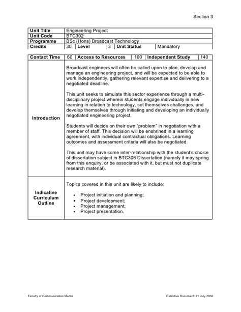 Btc3 Engineering Project Brief Project Brief Template