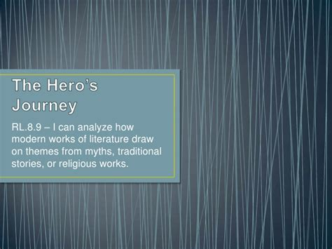 themes in literature heroism the hero s journey