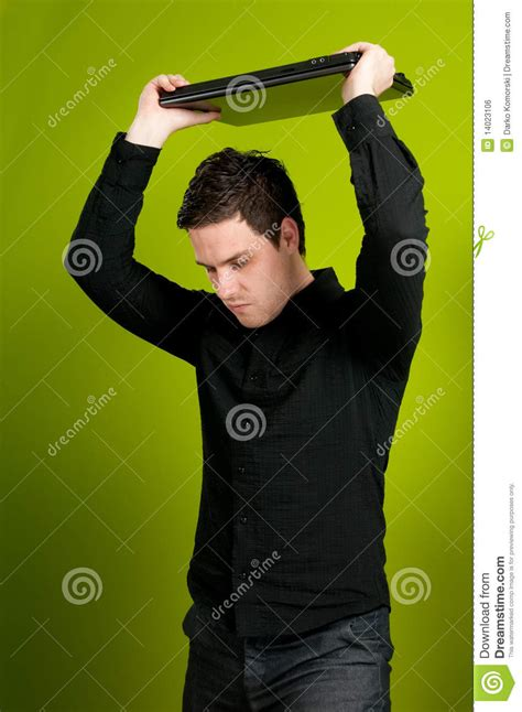 Trashing by Trashing The Laptop Royalty Free Stock Image Image 14023106