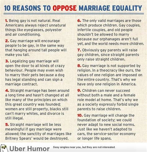 Why are people against gay marriage