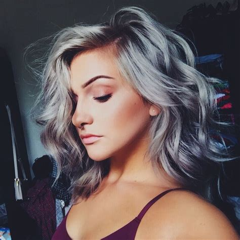 hairstyles to hide dyed hair 17 best ideas about silver highlights on pinterest