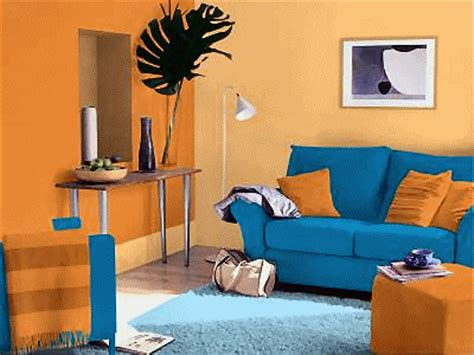 orange and blue room orange blue contrast interior david humphrey18474103