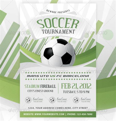 sports flyer template top 20 soccer football flyer templates 56pixels