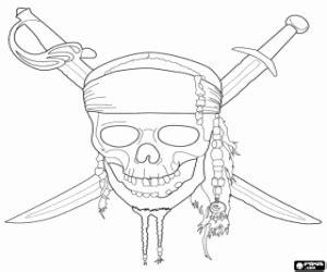 disegni di pirati dei caraibi da colorare e stampare