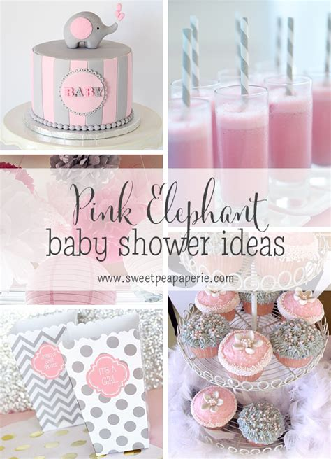 baby girl themes not pink pink and gray elephant baby shower ideas baby shower