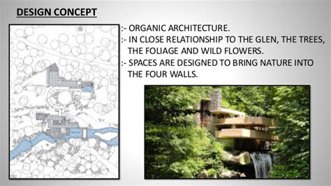 design concept of falling water falling water house