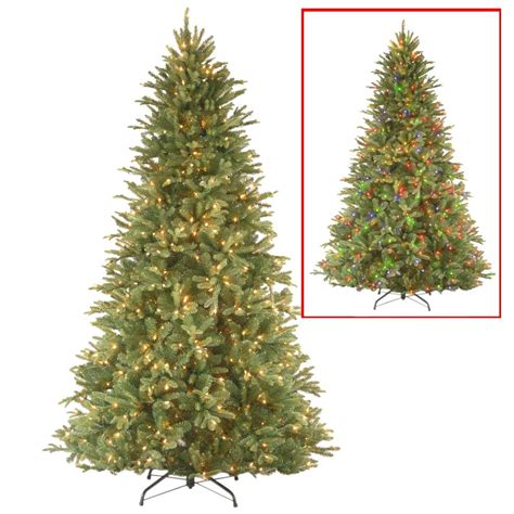 National Tree Company 7 5 Ft Powerconnect Tiffany Fir Dual Light Tree