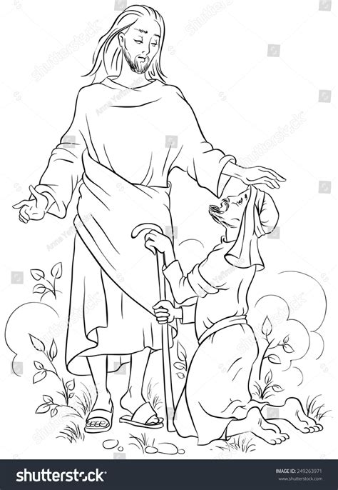 healing blind bartimaeus free colouring pages