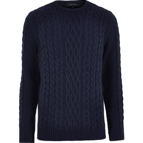 womens navy blue cable knit sweater navy blue cable knit crew neck sweater sweaters