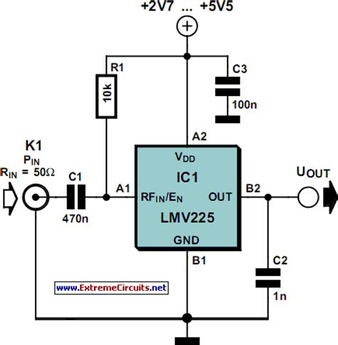 linear electronic circuits rf power meter schematic power measurement with simple