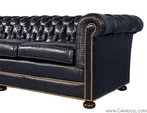 distressed chesterfield sofa distressed black leather chesterfield at 1stdibs