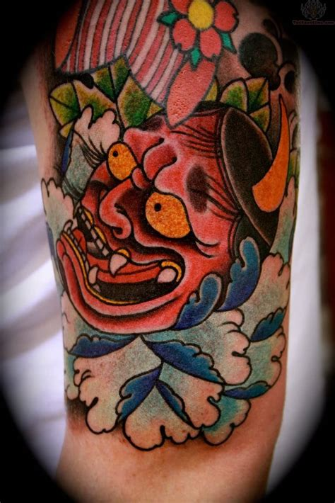 red hannya mask tattoo designs mask tattoo ideas and mask tattoo designs page 6