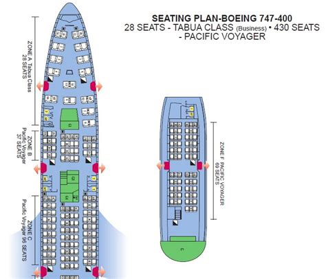 ai 101 seat map air pacific airlines boeing 747 400 pacific voyager