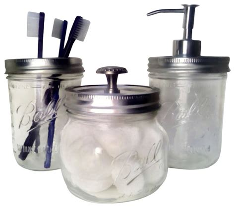 bathroom soap and lotion dispenser set wide mouth mason jar bath set traditional soap