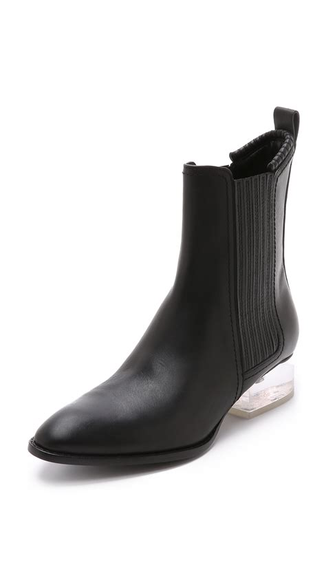 wang boots wang anouck boots black lucite in black lyst