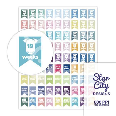 printable pregnancy organizer printable pregnancy countdown planner stickers instant