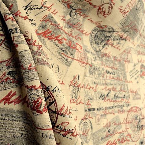 Script Upholstery Fabric by Mata Hari Jover Milford Script Upholstery Fabric