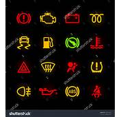 Car Dashboard Icons Vector  185072642 Shutterstock