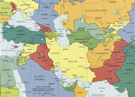 map of central asia caucasus and central asia map