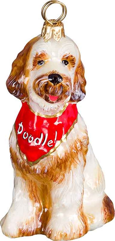 goldendoodle w bandana ornament