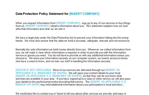 data security policy template copyright trademark ip page 2 of 2 bizorb