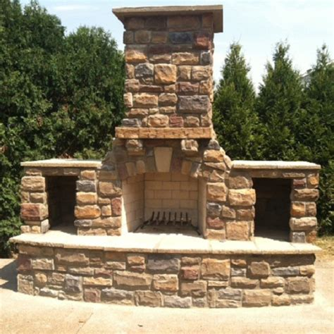 30 in firerock arched masonry outdoor wood burning fireplace