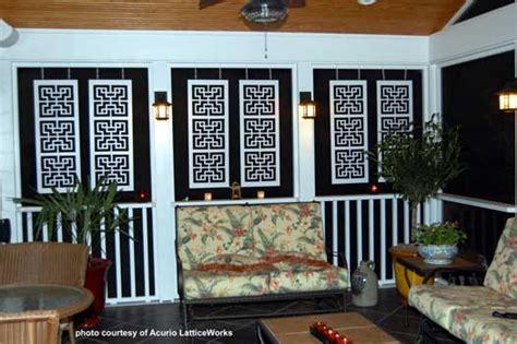 Porch Shades Blinds Vinyl Lattice Panels Black Lattice Panels Privacy