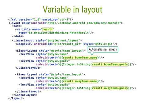Layout Xml Variable | android data binding in action using mvvm pattern droidconuk