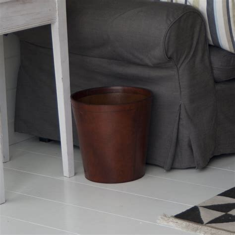 Oh Look Waste Paper Bins In Paper Sizes by Leather Wastepaper Bins Leather Rubbish Bins Basket