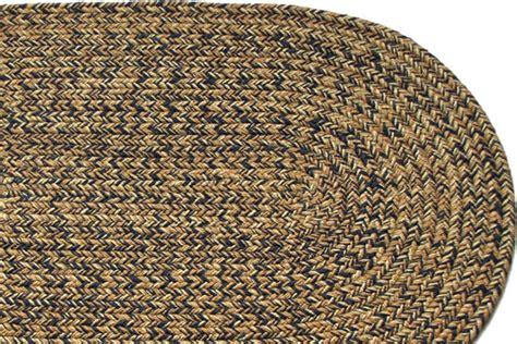 blend navy braided rug