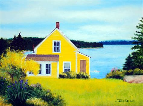paint with a twist ta stonington summer house painting by tasheiko