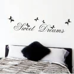 sweet dreams quote wall sticker free shipping worldwide sweet dreams at night bedroom wall decals and stickers