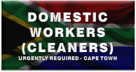 cleaner jobs in cape town domestic workers cleaners urgently required cape town