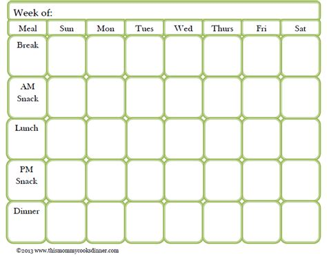 free meal planner template monthly meal planner template search results calendar 2015