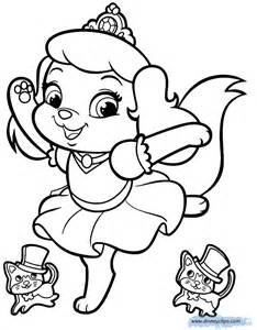 color sheet palace pets coloring pages 4 disney coloring book