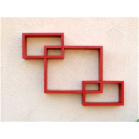 modern interlocking rectangular box storage wall shelf set