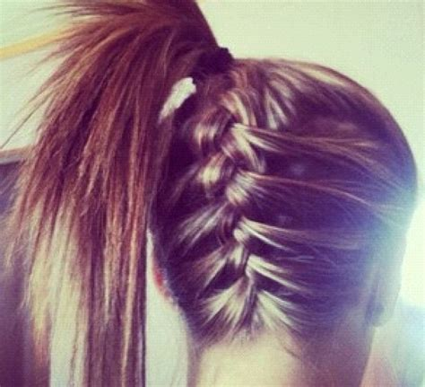 Plait At Back Of Head Hairstyle | french braid up back of head into ponytail hair care