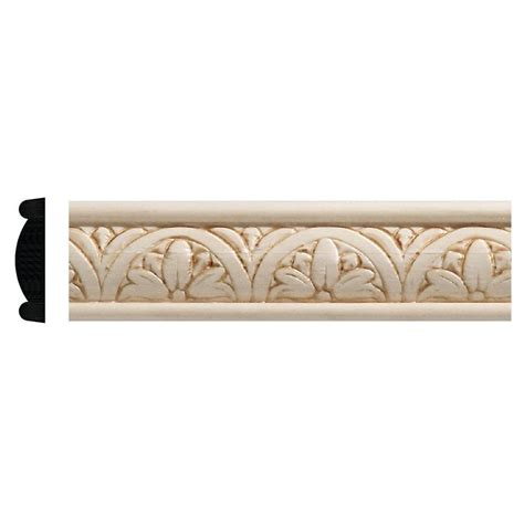 decorative moulding home depot ornamental mouldings 5 16 in x 1 1 4 in x 96 in white
