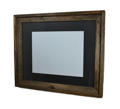 11x17 Mat For 16x20 Frame by 16x20 Upcycled Wood Poster Frame Complete With Mat For