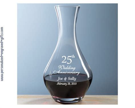 Personalized Glass Decanter   32 oz Volpe