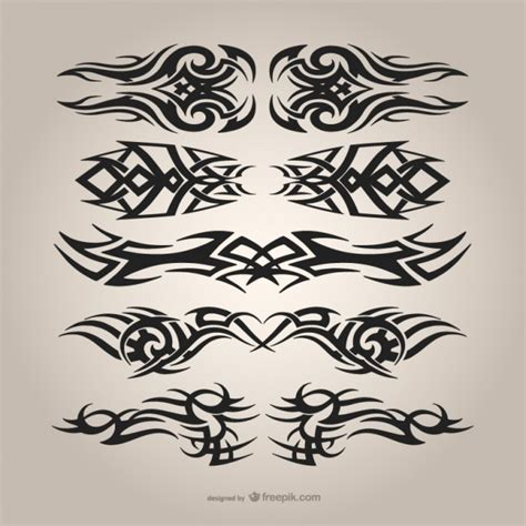 free tattoo designs to download tribal tattoos set vector free