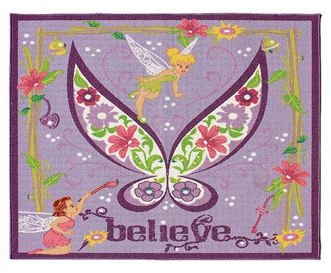 tinkerbell rug new tinkerbell activity rug purple butterfly disney fairies floor area carpet ebay
