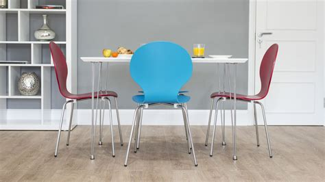 funky white gloss kitchen dining table trendy coloured