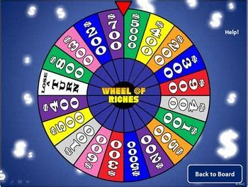 Create Your Own Whole Class Review Game With This Wheel Of Riches Powerpoint Template Create A Wheel Of Fortune In Powerpoint